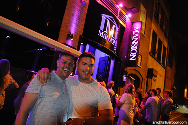 Outside Liverpool's trendy Mansion Club