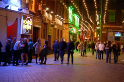 mathew street at night